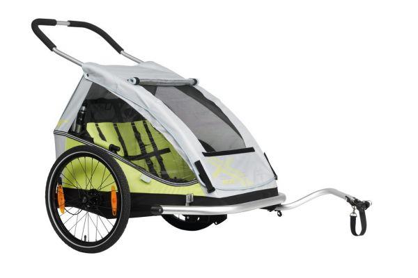 XLC Kinderanhänger XLC Duo8teen BS-C07 limone/silber Zweisitzer