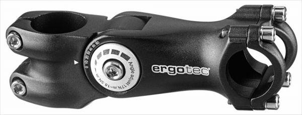"Ergotec Fahrrad Vorbau Octopus 2 AHEAD 1.1/8"" winkelverstellbar schwarz"