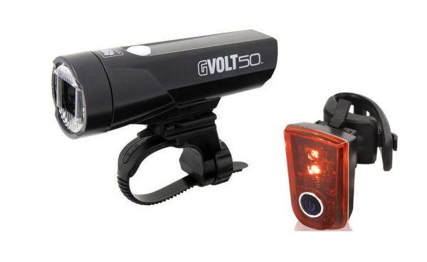 Cat Eye GVolt 50 LED Beleuchtung Set 50 Lux + XLC LED Sirius B CL-R23 Rücklicht.