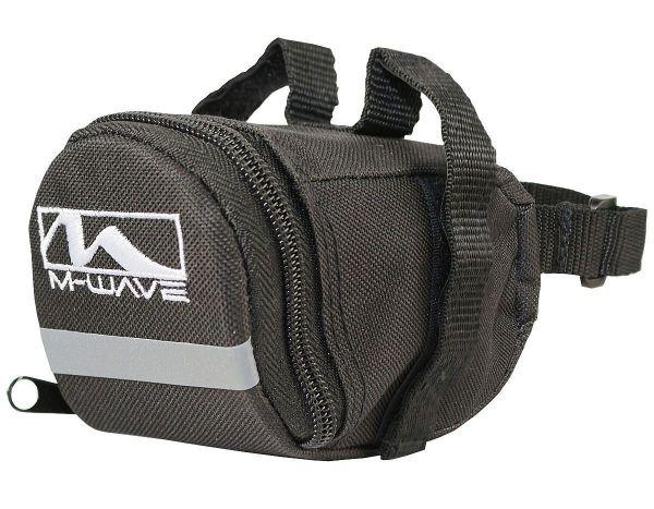 M-Wave Fahrradtasche Satteltasche Werkzeugtasche Sattel Tasche schwarz