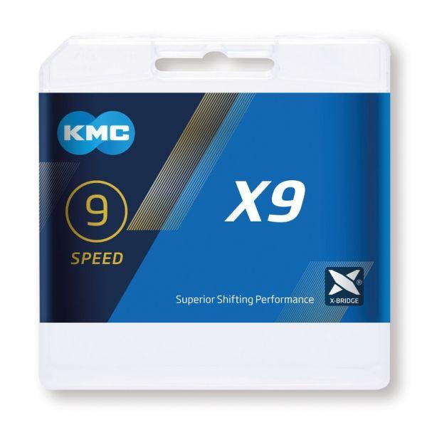 KMC Fahrrad Kette X 9 grau 9-fach 114 Glieder