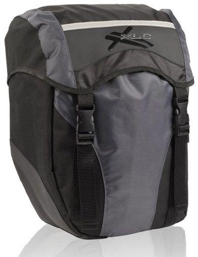 XLC Einzeltasche BA-S40 für Fahrrad und E-Bike schwarz / anthrazit 15 Liter