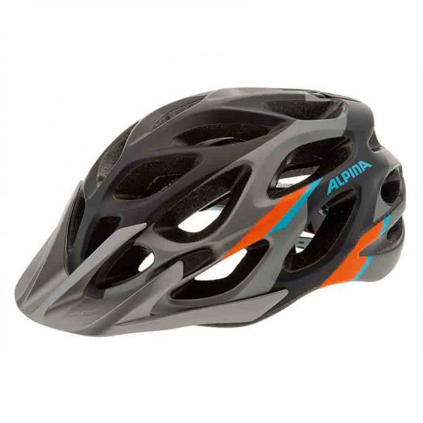ALPINA Mythos 2.0 Fahrradhelm darksilver blue-orange