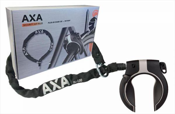 AXA E-Bike Rahmenschloss mit RLC 100 Einsteckkette