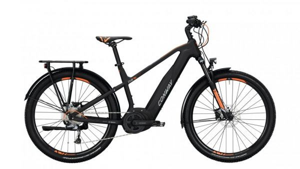 "CONWAY Cairon C 227 SE 9-Gang SHIMANO ""Acera"" black matt / orange"