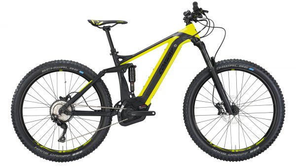 Conway eMF 327 Plus 27.5+ / 650B+ MTB E-Bike Komplettrad black matt/lime