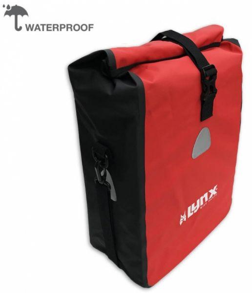 Lynx Fahrradgepäckträgertasche Wasserfest 16 Liter rot