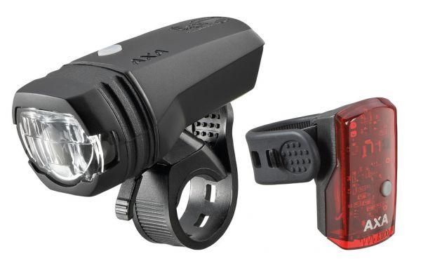 AXA LED-Akku Fahrrad Beleuchtungsset Green Line 50