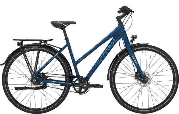 VICTORIA Trekking 5.8 D Fahrrad ist ein Top-Trekkingrad mit 8-Gang Freilaufnabe und GATES Riemen
