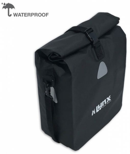 Fahrradgepäckträgertasche Lynx Wasserfest 16 Liter black