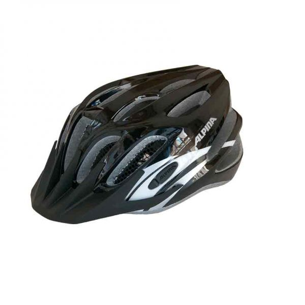Alpina Tour 2.0 Fahrradhelm black/silver/white