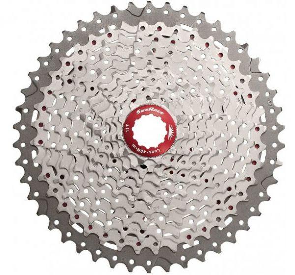 SunRace Fahrrad Zahnkranz CSMX8 11-fach 11-40 - metallic